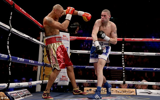 Trading blows: An Bellew and Chilemba had already fought once before