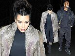 20 April 2016 - EXCLUSIVE. Kim Kardashian and husband Kanye West are seen arriving at a studio in Iceland after having dinner at one of Iceland's famous tourist attractions 'The Blue Lagoon'.  Credit: Ben Eade/GoffPhotos.com   Ref: KGC-102/195 *Exclusive to GoffPhotos.com - Papers Allrounder - Mags Double Space Rates - Web/Online Must Call Before Use**