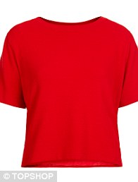 Crepe Tee Red, £30.00