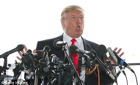 Full of opinions: Trump was very vocal with the possibility of running for President