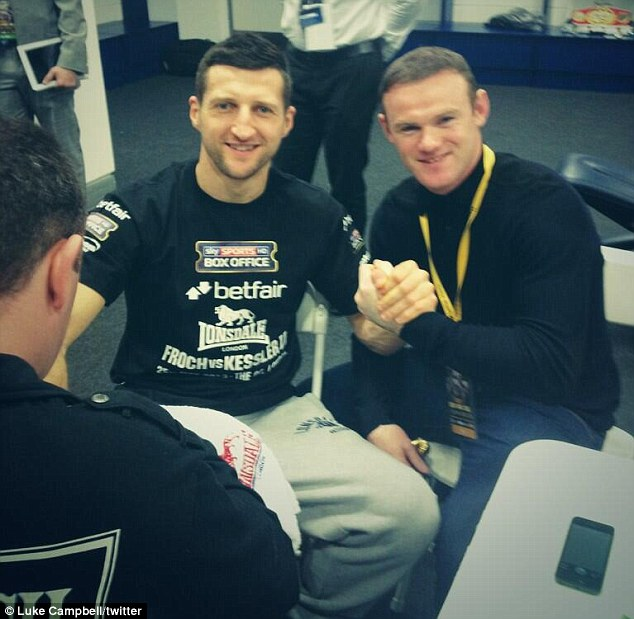 Guest: Wayne Rooney posed for a picture with Carl Froch before 'The Cobra's' fight against Mikkel Kessler