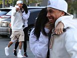 Please contact X17 before any use of these exclusive photos - x17@x17agency.com   Soon engaged? Kylie Jenner and Tyga showing their love in public in Calabasas as they go to see Jungle Book in Calabasas april 20, 2016 /X17online.com