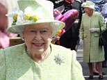 Image licensed to i-Images Picture Agency. 21/04/2016. Windsor, United Kingdom. The Queen goes on a walkabout outside Windsor Castle, United Kingdom as she celebrates her 90th birthday. Picture by Stephen Lock / i-Images
