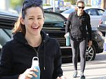 21.April.2016 - Brentwood - USA\n*** STRICTLY AVAILABLE FOR UK AND GERMANY USE ONLY ***\nJennifer Garner is all smiles this morning as she heads to her morning workout with her gym buddy\nBYLINE MUST READ : AKM-GSI-XPOSURE\n***UK CLIENTS - PICTURES CONTAINING CHILDREN PLEASE PIXELATE FACE PRIOR TO PUBLICATION ***\n*UK CLIENTS MUST CALL PRIOR TO TV OR ONLINE USAGE PLEASE TELEPHONE 0208 344 2007*\n