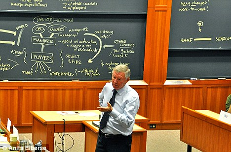 Business secrets of United: Sir Alex Ferguson spoke at Harvard Business School this year