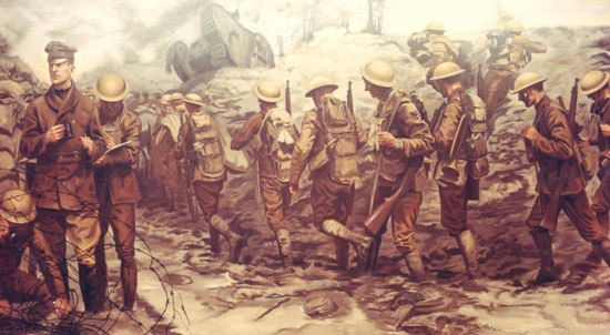 Mural of MacArthur w/42nd Div