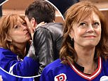 Celebrities attend the Pittsburgh Penguins vs New York Rangers hockey game at Madison Square Garden in New York City.\n\nPictured: Miles Robbins and Susan Sarandon\nRef: SPL1267415  210416  \nPicture by: JD Images / Splash News\n\nSplash News and Pictures\nLos Angeles: 310-821-2666\nNew York: 212-619-2666\nLondon: 870-934-2666\nphotodesk@splashnews.com\n