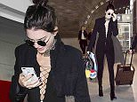 Kendall Jenner arrives at Paris Charles de Gaulle Airport in Paris. 4/21/2016  Pictured: Kendall Jenner Ref: SPL1268036  210416   Picture by: KCS Presse / Splash News  Splash News and Pictures Los Angeles: 310-821-2666 New York: 212-619-2666 London: 870-934-2666 photodesk@splashnews.com