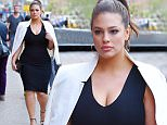 Plus size Model Ashley Graham looks stunning in a black dress while out in Manhattan \n\nPictured: Ashley Graham\nRef: SPL1267989  210416  \nPicture by: NPEx / Splash News\n\nSplash News and Pictures\nLos Angeles: 310-821-2666\nNew York: 212-619-2666\nLondon: 870-934-2666\nphotodesk@splashnews.com\n