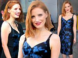 Hollywood, CA - Jessica Chastain looks stunning in a blue and black dress as she arrives at Jimmy Kimmel Live. She also greets her fans and signs autographs before the show. \n  \nAKM-GSI       April 20, 2016\nTo License These Photos, Please Contact :\nSteve Ginsburg\n(310) 505-8447\n(323) 423-9397\nsteve@akmgsi.com\nsales@akmgsi.com\nor\nMaria Buda\n(917) 242-1505\nmbuda@akmgsi.com\nginsburgspalyinc@gmail.com