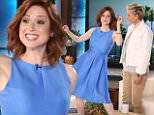 eURN: AD*203669999  Headline: Star of ?Unbreakable Kimmy Schmidt? ELLIE KEMPER joins ?The Ellen DeGeneres Show? on Thursday, April 21st Caption: Star of ?Unbreakable Kimmy Schmidt? ELLIE KEMPER joins ?The Ellen DeGeneres Show? on Thursday, April 21st and talks to Ellen about her pregnancy and how she feels about baby bumps. Ellie also talks about her character on her show and that she often sings, so Ellie surprises Ellen with a serenade to her dogs! Photographer: Michael Rozman\n Loaded on 21/04/2016 at 04:49 Copyright: WARNER BROS Provider: Michael Rozman / Warner Bros.  Properties: RGB JPEG Image (17772K 1027K 17.3:1) 2022w x 3000h at 300 x 300 dpi  Routing: DM News : News (EmailIn) DM Online : Online Previews (Miscellaneous), CMS Out (Miscellaneous), LA Basket (Miscellaneous)  Parking: