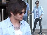 *EXCLUSIVE* Calabasas, CA - Louis Tomlinson makes a coffee run at Starbucks, He's seen wearing a denim button up with black distressed jeans and a pair of Adidas.    AKM-GSI        April 21, 2016 To License These Photos, Please Contact : Steve Ginsburg (310) 505-8447 (323) 423-9397 steve@akmgsi.com sales@akmgsi.com or Maria Buda (917) 242-1505 mbuda@akmgsi.com ginsburgspalyinc@gmail.com