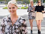 *EXCLUSIVE* West Hollywood, CA - Blonde babe Kate Upton enjoys breakfast at Hugo's wearing a tiny floral dress, showing off her long sexy model legs.\nAKM-GSI          April 20, 2016\nTo License These Photos, Please Contact :\nSteve Ginsburg\n(310) 505-8447\n(323) 423-9397\nsteve@akmgsi.com\nsales@akmgsi.com\nor\nMaria Buda\n(917) 242-1505\nmbuda@akmgsi.com\nginsburgspalyinc@gmail.com
