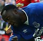 Romelu Lukaku of Everton shoots at the goal     during the Emirates FA Cup Semi-Final  match between Everton and Manchester United played at Wembley Stadium, London on April 23rd 2016