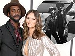 LOS ANGELES, CA - JANUARY 26:  Musician Gary Clark Jr. (L) and Nicole Trunfio attend the 56th GRAMMY Awards at Staples Center on January 26, 2014 in Los Angeles, California.  (Photo by Jeff Vespa/WireImage)