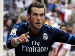 MADRID, SPAIN - APRIL 23:  Gareth Bale of Real Madrid celebrates after scoring his team's third goal during the La Liga match between Rayo Vallecano and Real Madrid CF at Estadio de Vallecas on April 23, 2016 in Madrid, Spain.  (Photo by Angel Martinez/Real Madrid via Getty Images)