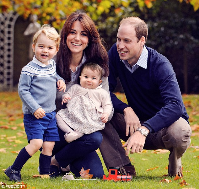 Prince George and Princess Charlotte pictured in late October at Kensington Palace. The image was used for the family Christmas card