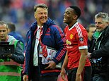 FA Cup Semi Final, Manchester United v Everton 23/04/16: Picture Kevin Quigley/Daily Mail Louis Van Gaal and Martial