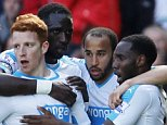 "Football Soccer - Liverpool v Newcastle United - Barclays Premier League - Anfield - 23/4/16  Jack Colback celebrates with team mates after scoring the second goal for Newcastle  Reuters / Phil Noble  Livepic  EDITORIAL USE ONLY. No use with unauthorized audio, video, data, fixture lists, club/league logos or ""live"" services. Online in-match use limited to 45 images, no video emulation. No use in betting, games or single club/league/player publications.  Please contact your account representative for further details."