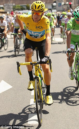 Bradley Wiggins of Great Britain and SKY Procycling in action during the twentieth and final stage of the 2012 Tour de France