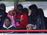 """Football Soccer - Liverpool v Newcastle United - Barclays Premier League - Anfield - 23/4/16  Liverpool's Mamadou Sakho and Christian Benteke in the stands  Action Images via Reuters / Lee Smith  Livepic  EDITORIAL USE ONLY. No use with unauthorized audio, video, data, fixture lists, club/league logos or """"live"""" services. Online in-match use limited to 45 images, no video emulation. No use in betting, games or single club/league/player publications.  Please contact your account representative for further details."""