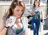 Picture Shows: Bella Thorne  April 23, 2016\n \n Actresses Bella Thorne and Halston Sage were spotted on the set of 'You Get Me' in Los Angeles, California. Bella stars in the upcoming 'Amityville' sequel scheduled to release 2017.\n \n Non-Exclusive\n UK RIGHTS ONLY\n \n Pictures by : FameFlynet UK © 2016\n Tel : +44 (0)20 3551 5049\n Email : info@fameflynet.uk.com