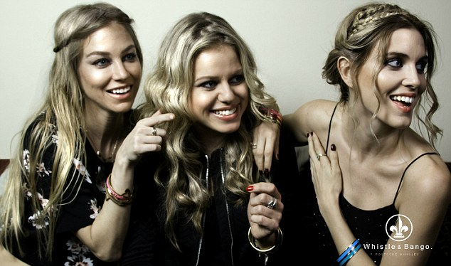 Business brains:Ashley established Whistle & Bango with her friends Ania Kubow and Rosie Parkes