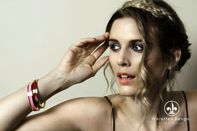 Killing two birds with one stone: Former Made In Chelsea star Ashley James models her new range of bangles, Whistle & Bango