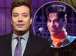 """Jimmy Fallon opens the Prince Tribute on SNL and Prince performs """"Party."""""""