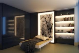 Miegamojo apšvietimo idėjos (foto)