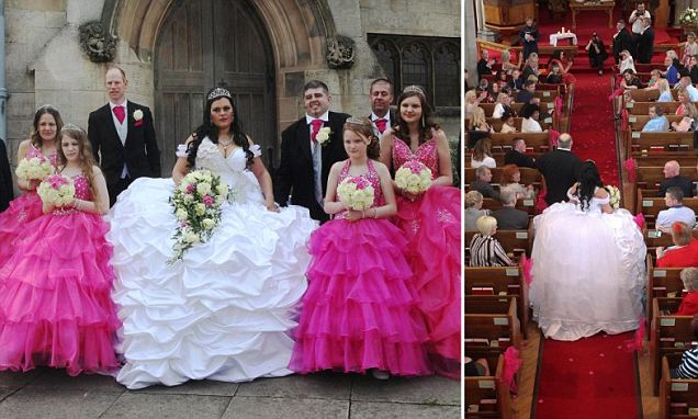 Bride designs her own £6,000 dress at the 'big fat Gypsy wedding' of her dreams