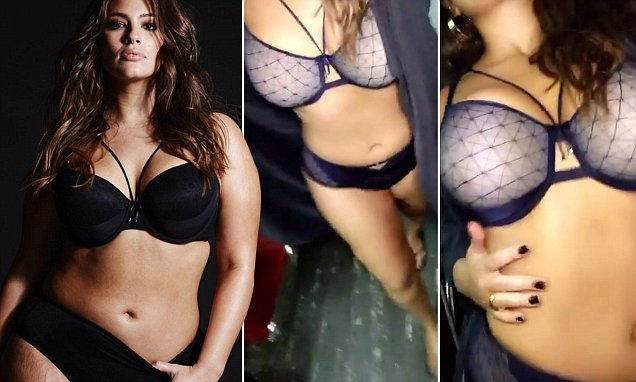 Ashley Graham treats fans to a look at her figure in honor of National Lingerie Day