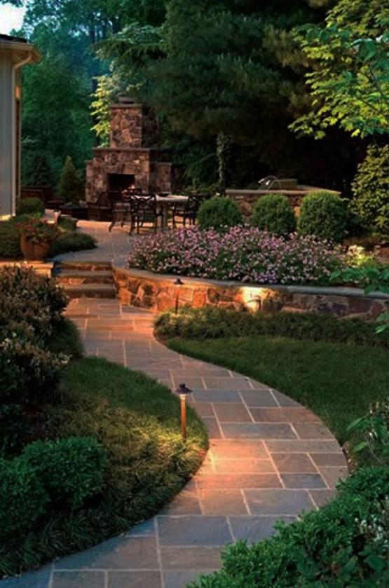 tiled garden pathway
