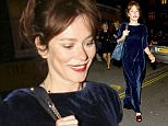 Picture Shows: Anna Friel  April 23, 2016\n \n Anna Friel was spotted at the Chiltern Firehouse in London, UK. The actress was seen looking stylish whilst wearing a velvet dress as she entered the venue.\n \n Non Exclusive\n WORLDWIDE RIGHTS\n \n Pictures by : FameFlynet UK © 2016\n Tel : +44 (0)20 3551 5049\n Email : info@fameflynet.uk.com