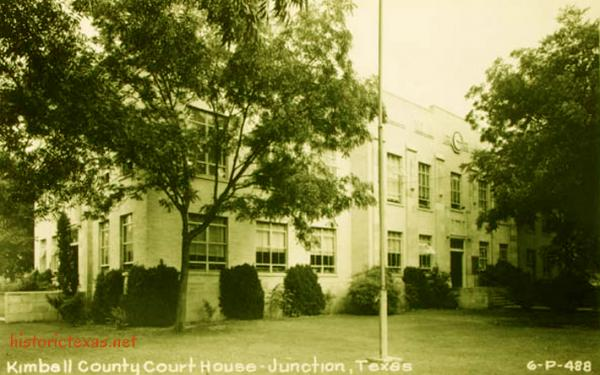 Kimble County Courthouse, Junction, Texas 1950s