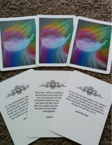 Angel Cards Fanned Out