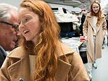 LONDON, ENGLAND - APRIL 23:  Lily Cole sighted shopping at the Women For Women car boot sale at the Brewer Street Carpark on April 23, 2016 in London, England.  (Photo by Ben A. Pruchnie/GC Images)
