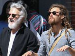 24.April.2016 - New York - USA Dustin Hoffman enjoys some bonding time with his son Max Hoffman as they step out for lunch in Soho, New York City. BYLINE MUST READ: XPOSUREPHOTOS.COM *AVAILABLE FOR UK SALE ONLY* ***UK CLIENTS - PICTURES CONTAINING CHILDREN PLEASE PIXELATE FACE PRIOR TO PUBLICATION *** **UK CLIENTS MUST CALL PRIOR TO TV OR ONLINE USAGE PLEASE TELEPHONE  +44 208 344 2007