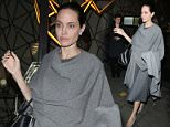 Angelina Jolie pictured leaving Quaglino's Restaurant in Mayfair after dining with William Hague. They had arrived at 8pm and Angelian left via the front exit at 2215 while William Hague slipped away quietly through another door  Pictured: Angelina Jolie Ref: SPL1244144  250416   Picture by: Splash News  Splash News and Pictures Los Angeles: 310-821-2666 New York: 212-619-2666 London: 870-934-2666 photodesk@splashnews.com
