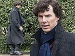 Filming for the sixth series of Sherlock at a property on Cyncoed Road, Cardiff, south Wales. Picture shows Benedict Cumberbatch. PIC Matthew Horwood © WALES NEWS SERVICE