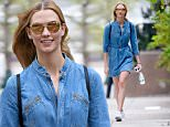 Karlie Kloss seen with a blue denim jumper in New York City\n\nPictured: Karlie Kloss\nRef: SPL1268701  220416  \nPicture by: Frank Sullivan/Splash News\n\nSplash News and Pictures\nLos Angeles: 310-821-2666\nNew York: 212-619-2666\nLondon: 870-934-2666\nphotodesk@splashnews.com\n