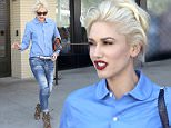 Beverly Hills, CA - Gwen Stefani rocks an all blue outfit with leopard print heels as she leaves the Palm after a lunch meeting with a friend.\n  \nAKM-GSI      April 22, 2016\nTo License These Photos, Please Contact :\nSteve Ginsburg\n(310) 505-8447\n(323) 423-9397\nsteve@akmgsi.com\nsales@akmgsi.com\nor\nMaria Buda\n(917) 242-1505\nmbuda@akmgsi.com\nginsburgspalyinc@gmail.com