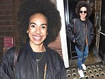 """Picture Shows: Pearl Mackie  April 25, 2016    New 'Doctor Who' companion Pearl Mackie meets her very first 'Doctor Who' fan outside """"The Curious Incident Of The Dog In The Night-Time"""" in London, England, UK.     EXCLUSIVE All Rounder  WORLDWIDE RIGHTS    Pictures by : FameFlynet UK © 2016  Tel : +44 (0)20 3551 5049  Email : info@fameflynet.uk.com"""