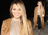 Chrissy Teigen steps out for the first time since giving birth, showing off her post baby body at The Nice Guy club with John Legend in West Hollywood, California on April 23, 2016.  Pictured: Chrissy Teigen Ref: SPL1269483  230416   Picture by: Photographer Group / Splash News  Splash News and Pictures Los Angeles: 310-821-2666 New York: 212-619-2666 London: 870-934-2666 photodesk@splashnews.com