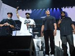 INDIO, CA - APRIL 23:  (L-R) Members of N.W.A. DJ Yella, Ice Cube, Dr. Dre and MC Ren perform onstage during day 2 of the 2016 Coachella Valley Music & Arts Festival Weekend 2 at the Empire Polo Club on April 23, 2016 in Indio, California.  (Photo by Kevin Winter/Getty Images for Coachella)
