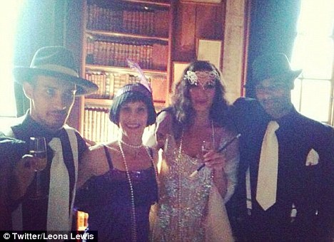 'Gangsta fam': Leona was joined by her mother Maria and brothers Kyle and Bradley