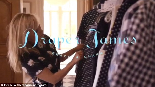 Getting down to business: Reese Witherspoon launched the website of her Southern-inspired brand Draper James on Wednesday