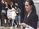 Picture Shows: Angelina Jolie, Vivienne Jolie-Pitt, Shiloh Jolie-Pitt  April 26, 2016\n \n Actress Angelina Jolie and her children spotted out for lunch at The Delaunay restaurant in London, England.\n \n Angelina was seen carrying a shopping bag from Hamleys toy store as they left the restaurant.\n \n Twins Knox and Vivienne enjoyed the sudden snowfall as they left, trying to catch it in their hands and mouths. \n \n Exclusive\n WORLDWIDE RIGHTS\n Pictures by : FameFlynet UK � 2016\n Tel : +44 (0)20 3551 5049\n Email : info@fameflynet.uk.com