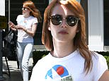 25.APR.2016 - HOLLYWOOD - USA\n*STRICTLY AVAILABLE FOR UK AND GERMANY USE ONLY*\nEmma Roberts stops by Nine Zero One salon to get her hair done. Emma is goes braless wearing a white tee paired with light wash denim and loafers. Emma is carrying two handbags as she gets her car from valet. \nBYLINE MUST READ : AKM-GSI/XPOSUREPHOTOS.COM\n***UK CLIENTS - PICTURES CONTAINING CHILDREN PLEASE PIXELATE FACE PRIOR TO PUBLICATION ***\n*UK CLIENTS MUST CALL PRIOR TO TV OR ONLINE USAGE PLEASE TELEPHONE 0208 344 2007*