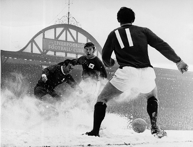 Spot the ball: Liverpool and Forest brave the weather in 1969